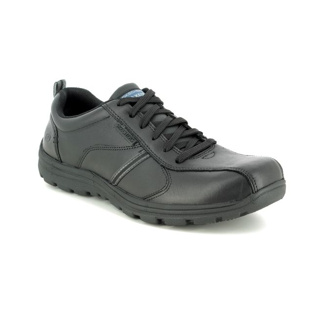 Skechers Formal Shoes - Black - 77036 SAFETY WORK LACING