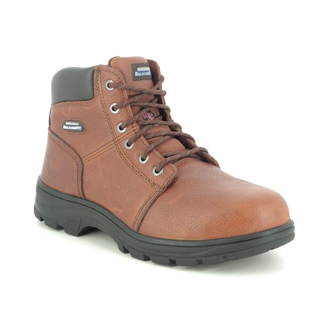 Skechers Boots - Brown - 77009EC SAFETY WORK-SHIRE BOOT STEEL TOE