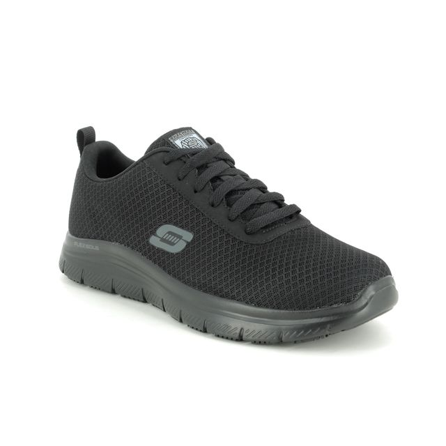 Skechers Trainers - Black - 77125 SAFETY WORK TRAINER SLIP RESISTANT