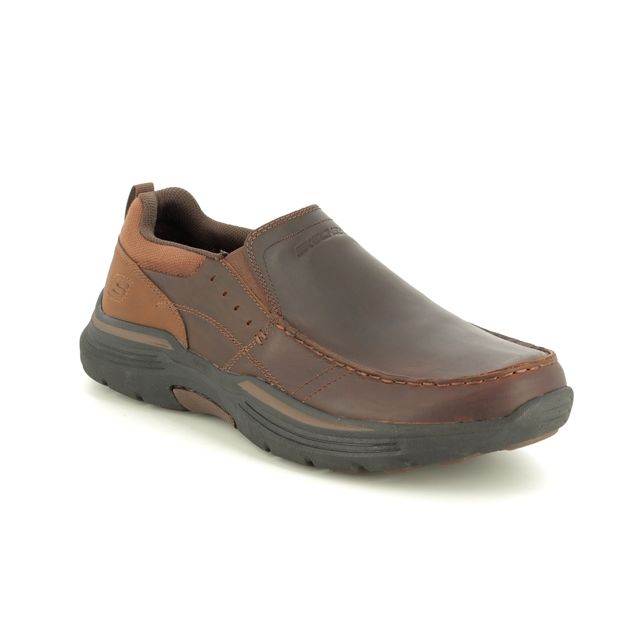 Skechers Slip-on Shoes - Brown - 66146 SEVENO EXPENDE