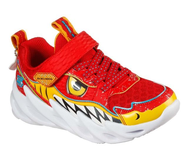 Skechers Shark Bots 402112L Red trainers