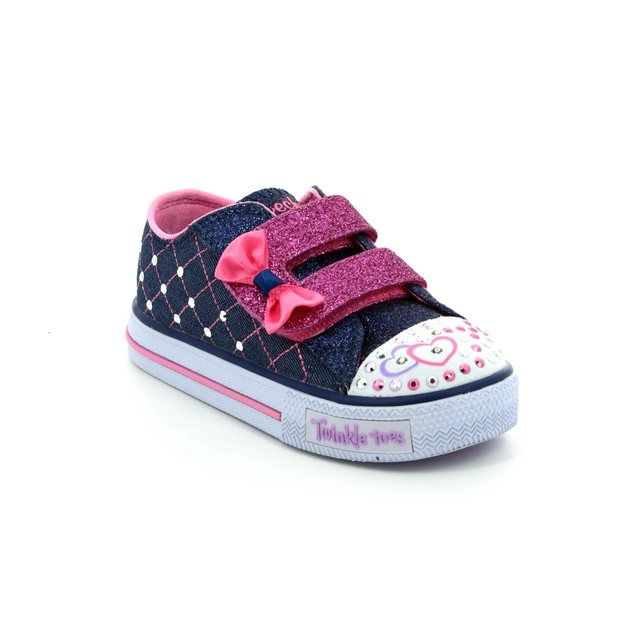 33a4960f8163 Skechers Shuffles Crush 10788 DNPK Pink multi first shoes