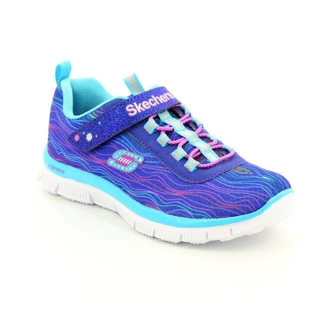 Skechers Sittin Pretty 81847 BLU Blue everyday shoes