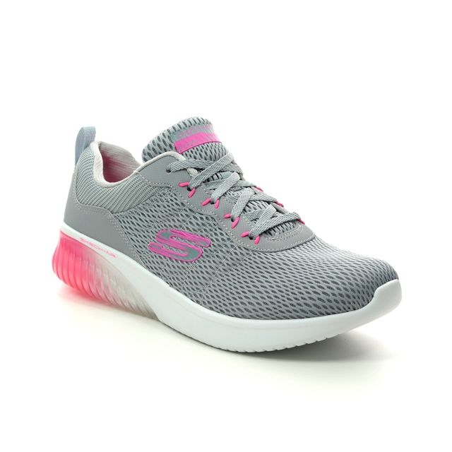 Skechers Trainers - Light Grey Hot Pink - 13290 SKECH AIR ULTR