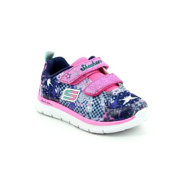 Skechers First Shoes - Navy multi - 82058 SKECH LITE