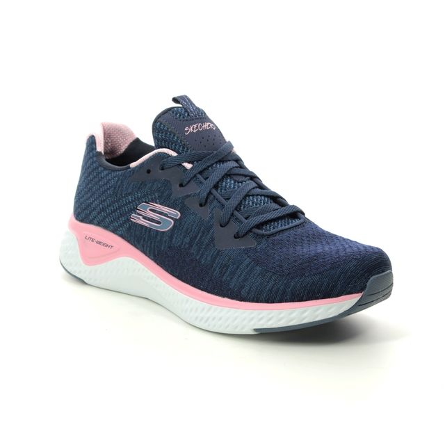 Skechers Solar Fuse Knit 13328 Navy Pink trainers