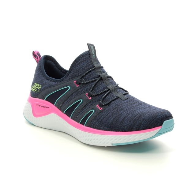 Skechers Trainers - Navy Pink - 13326 SOLAR FUSE MES