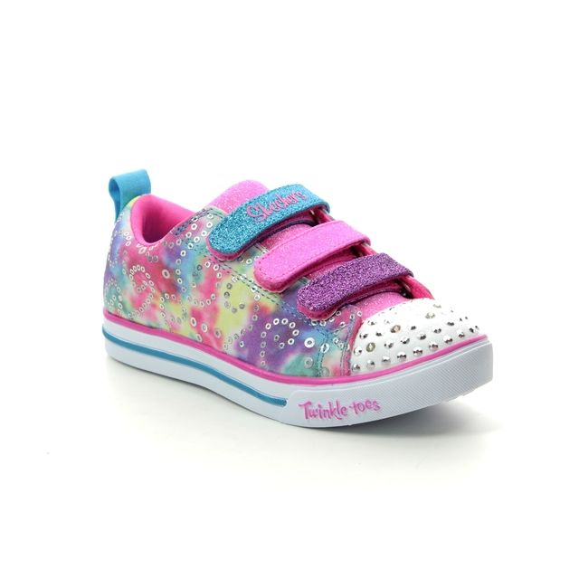 Skechers Girls Trainers - Multi Coloured - 20146 SPARKLE LITE