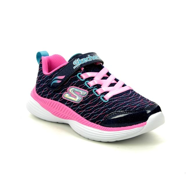 Skechers Trainers - Navy Pink - 83017L SPARKLE SPINNER