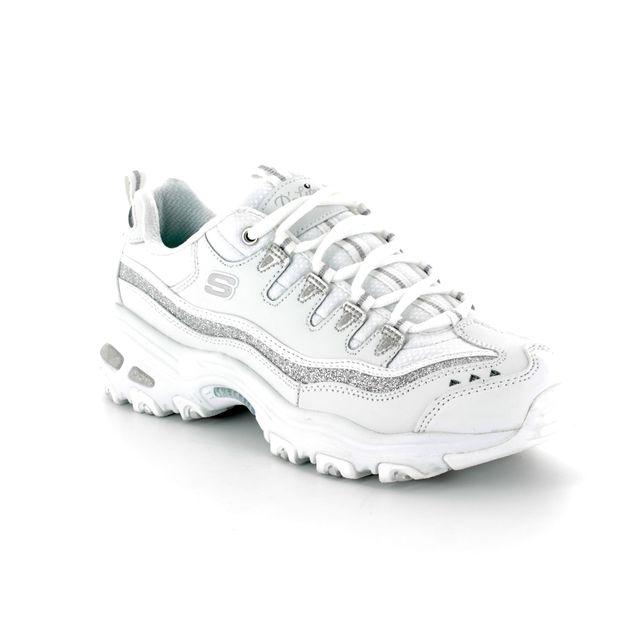 Skechers Sport Dlites 8 11923 White-silver trainers
