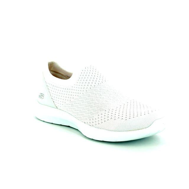 Skechers Trainers - White-silver - 12882 STUDIO COMFORT