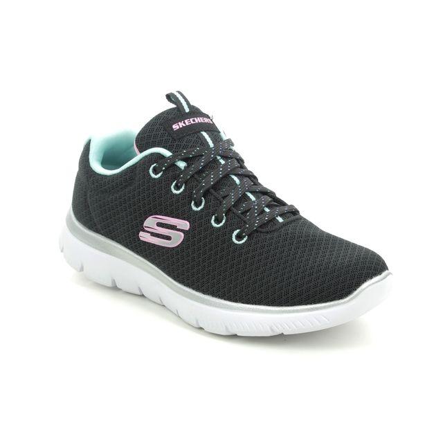 Skechers Trainers - Black Turquoise - 302070L SUMMITS