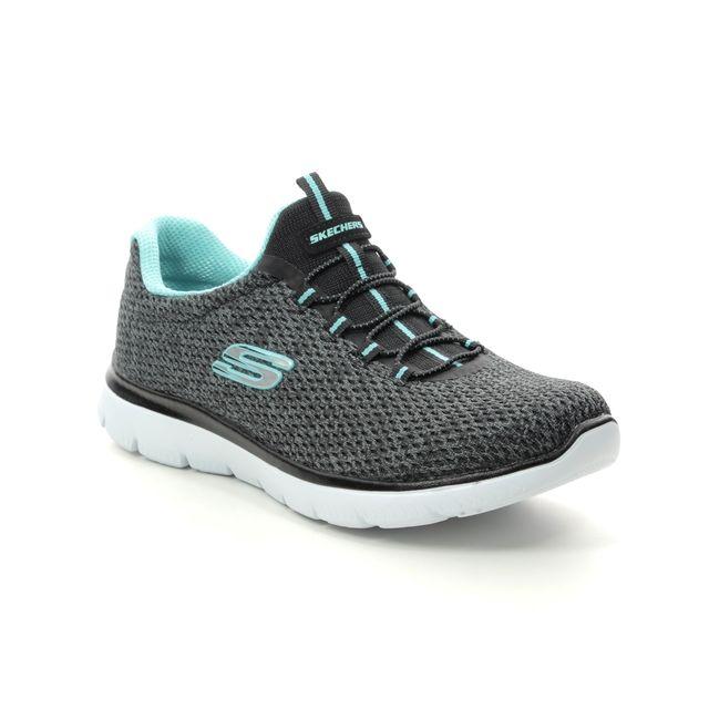 Skechers Trainers - Black Turquoise - 12986 SUMMITS STRIDI
