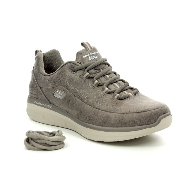 Skechers Trainers - Dark Taupe - 12934 SYNERGY 2.0