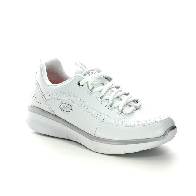 Skechers Trainers - White-silver - 12363 SYNERGY 2