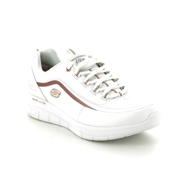 Skechers Trainers - White - rose gold - 12933 SYNERGY 2 META