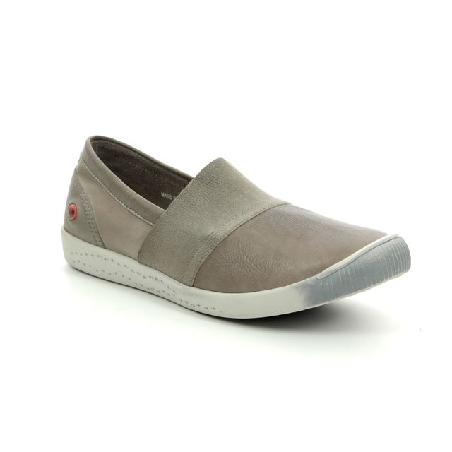 Softinos Comfort Slip On Shoes - Taupe leather - P900497/001 INO