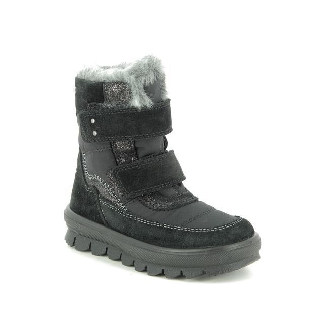 Superfit Infant Girls Boots - Black suede - 09214/00 FLAVIA VEL GTX