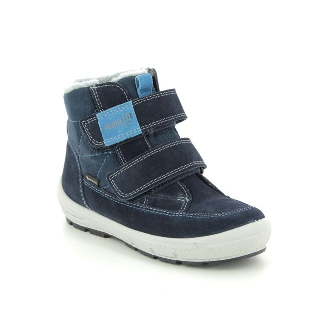 Superfit Infant Boys Boots - Navy Suede - 09314/80 GROOVY GORE TE