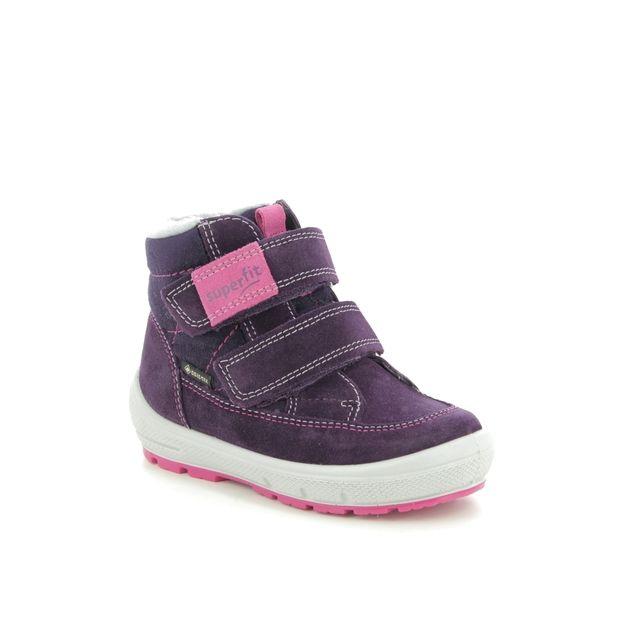 Superfit Boots - Purple suede - 09314/90 GROOVY GORE TE
