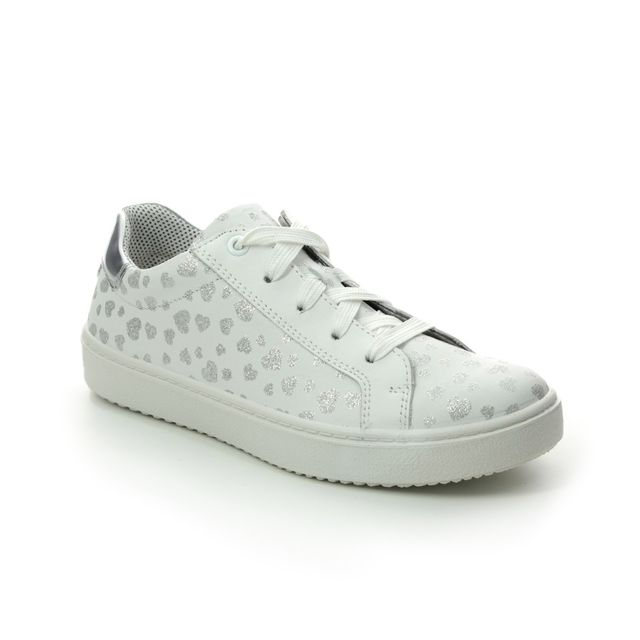 Superfit School Shoes - White-silver - 09488/11 HEAVEN LACE