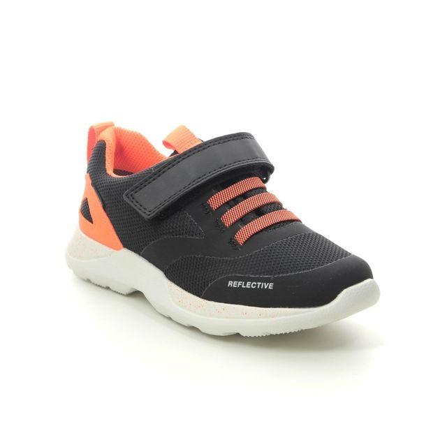 Superfit Rush Jnr B Gtx 1009209-0000 Black orange trainers