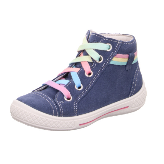 Superfit Everyday Shoes - Blue Suede - 00092/80 TENSY HIGH