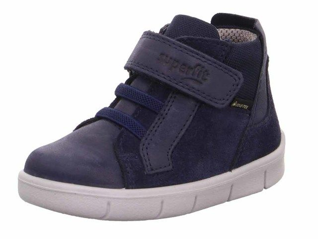 Superfit Infant Boys Boots - Navy Leather - 1009430/8000 ULLI   GORE TE