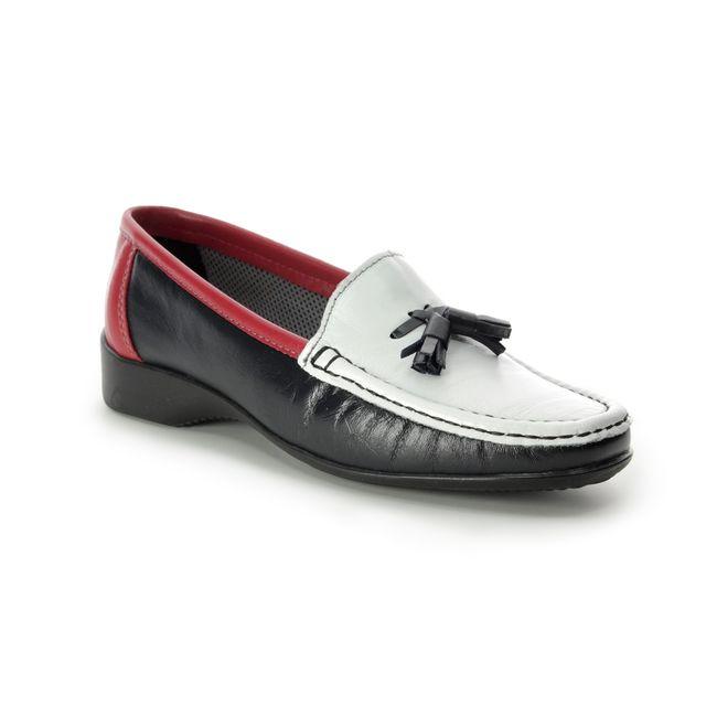 Roselli Tamara 2019-07 Navy Red loafers