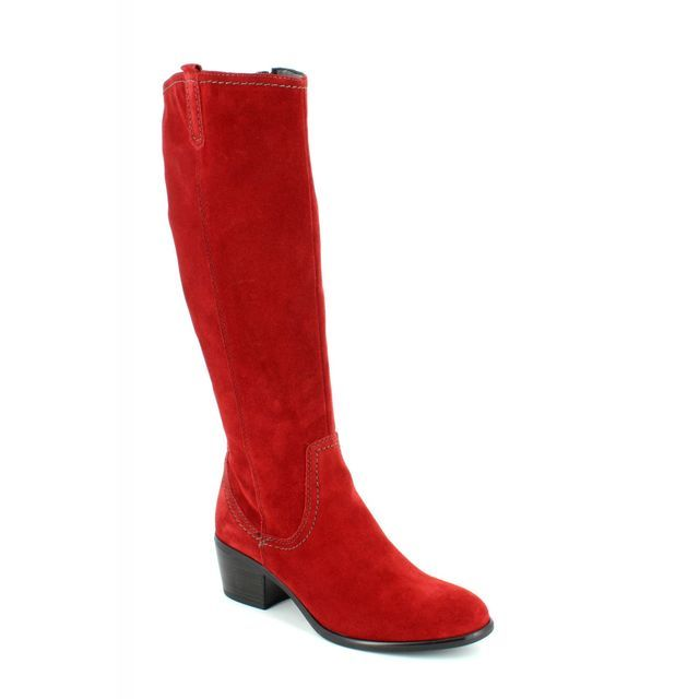 Tamaris 25537-501 Red suede long boots