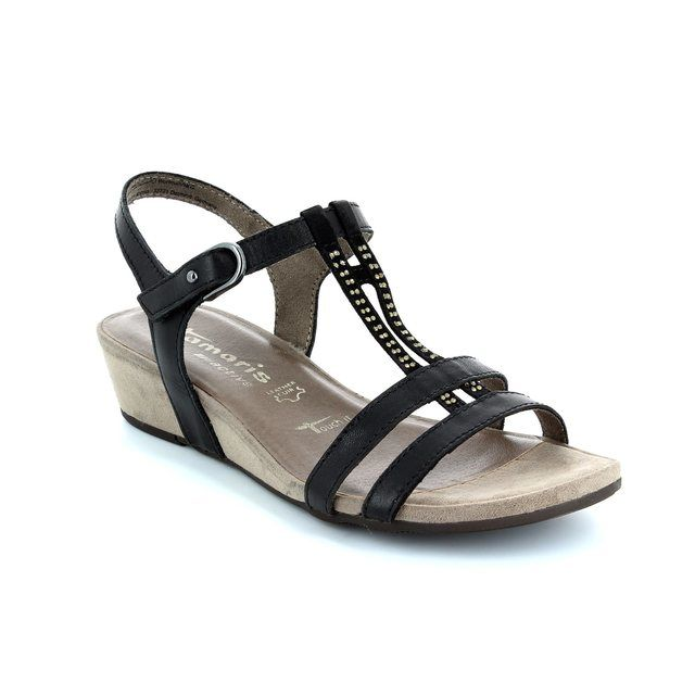 Tamaris 28205-001 Black sandals
