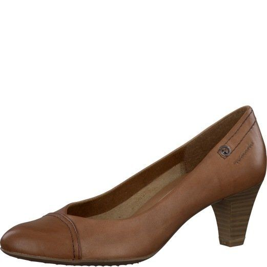 Tamaris Acacia 22408-440 Tan heeled shoes