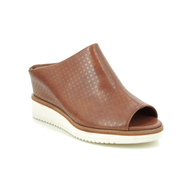 Tamaris Wedge Sandals - Tan Leather - 27200/24/444 ALIS