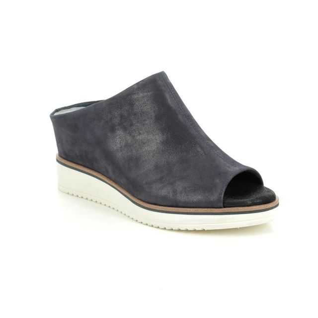 Tamaris Wedge Sandals - Navy Leather - 27200/24/585 ALIS