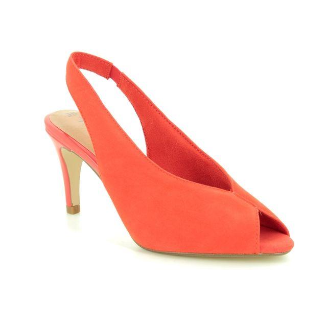 Tamaris Slingback Shoes - Orange suede - 29614/32/606 ANAYA SLING