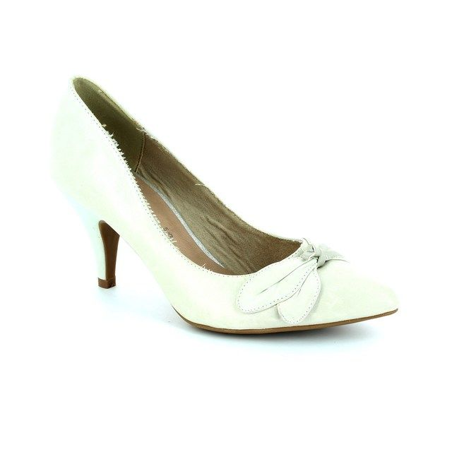 Tamaris Arab 22405-109 Off white high-heeled shoes