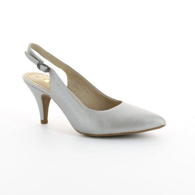 Tamaris Arabess 29614-941 Silver high-heeled shoes
