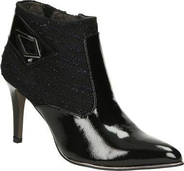 Tamaris Audrey 25079-098 Black patent ankle boots