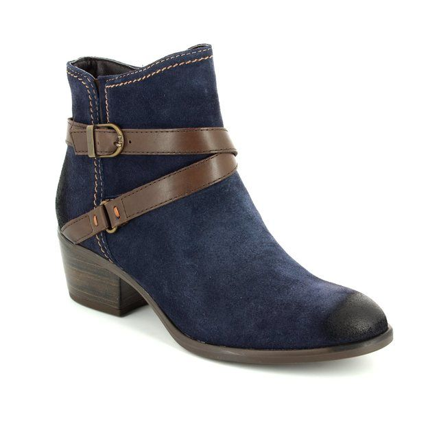 Tamaris Becka 25010-833 Navy suede ankle boots