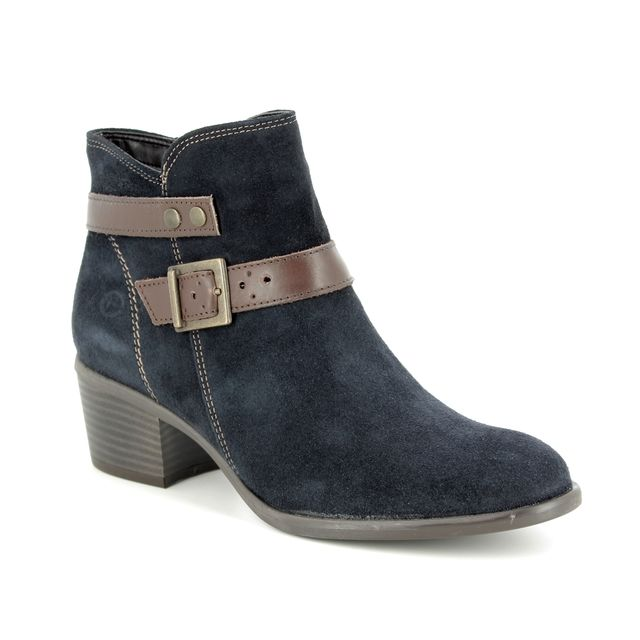 Tamaris Becka 85 25010-21-833 Navy suede ankle boots