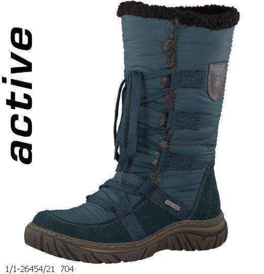 Tamaris Bini  Tex 26454-704 Petrol blue winter boots
