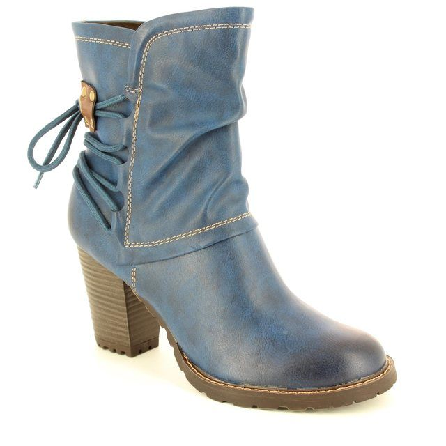 Tamaris Ankle Boots - Navy - 25359/805 CANESALACE