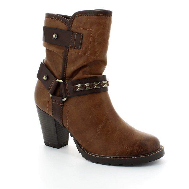 Tamaris Ankle Boots - Tan multi - 25445/381 CANESALAPINO
