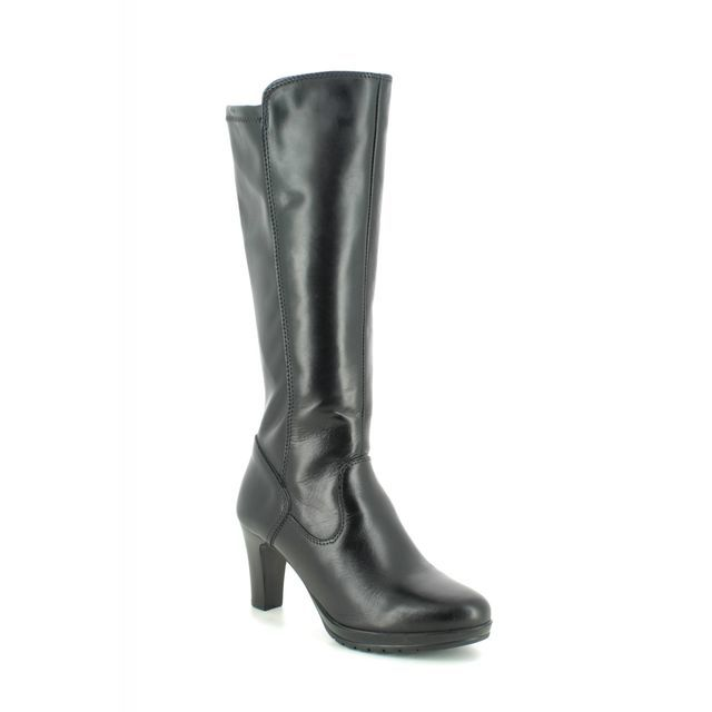 Tamaris Knee-high Boots - Black leather - 25552/23/001 CARMEN 95