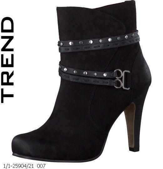 Tamaris Carra 25904-007 Black ankle boots