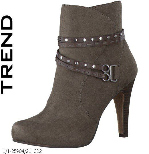 Tamaris Carra 25904-322 Taupe nubuck ankle boots