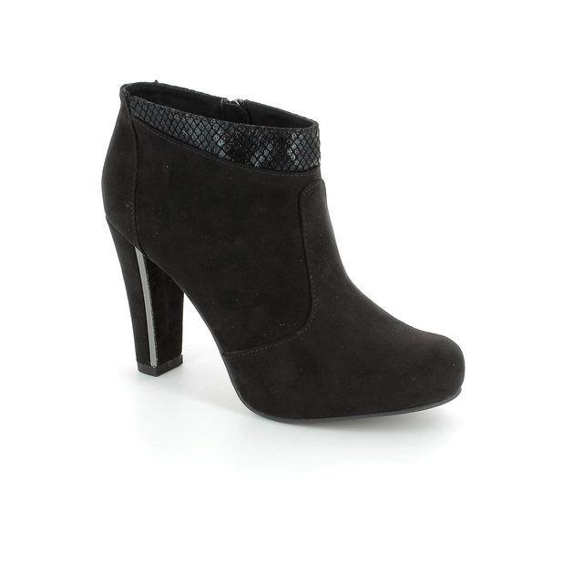 Tamaris Ankle Boots - Black suede - 25052/052 CARRADANK