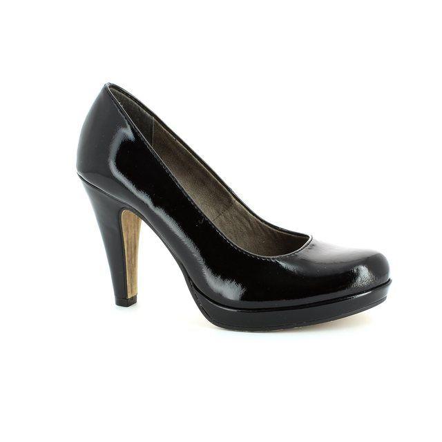 Tamaris Carradi 22426-018 Black patent high-heeled shoes
