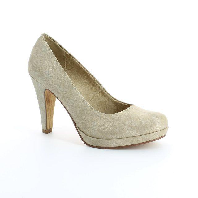 Tamaris Carradi 22426-940 Gold high-heeled shoes