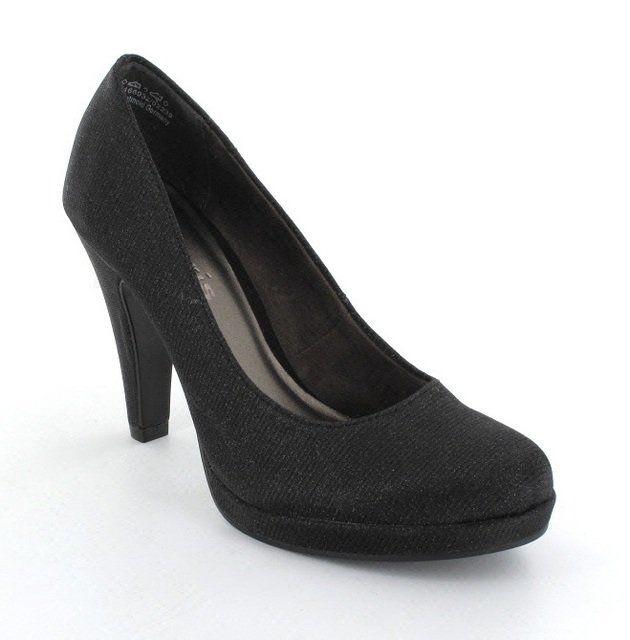 tamaris carragli 22439 031 black gold high heeled shoes. Black Bedroom Furniture Sets. Home Design Ideas